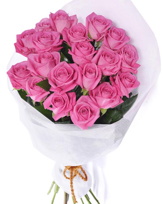 букет от 15 розови рози