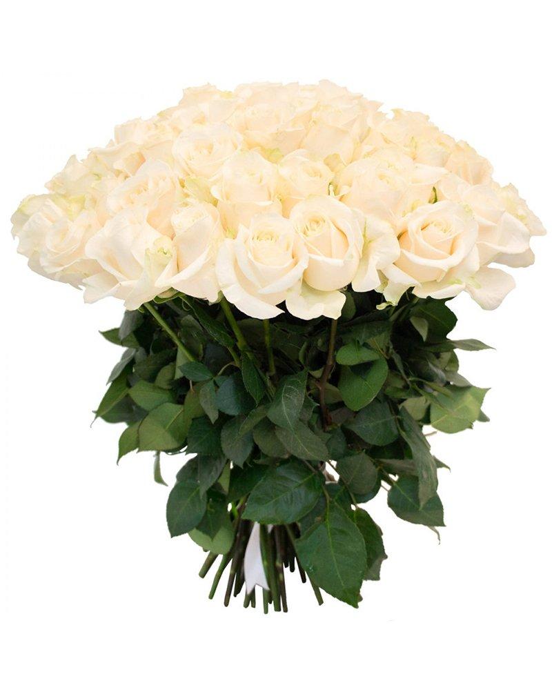 Букет 25 бели рози
