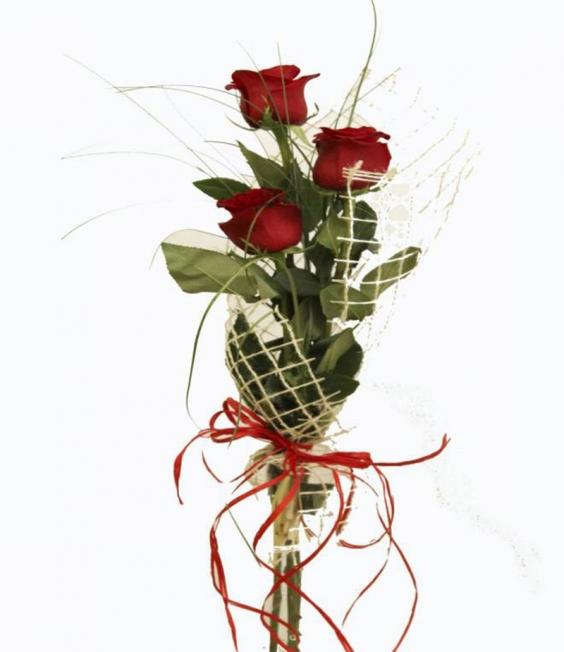 Класически букет рози 3бр.