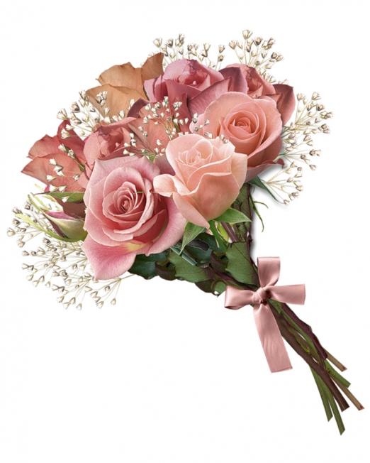 9 рози - розова усмивки