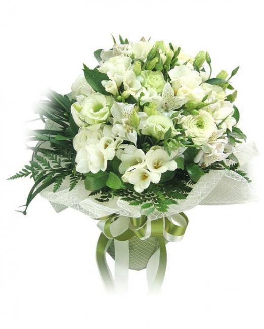 Букет от рози и орхидеи