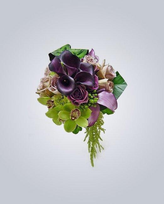 Букет микс от рози, кала и орхидея