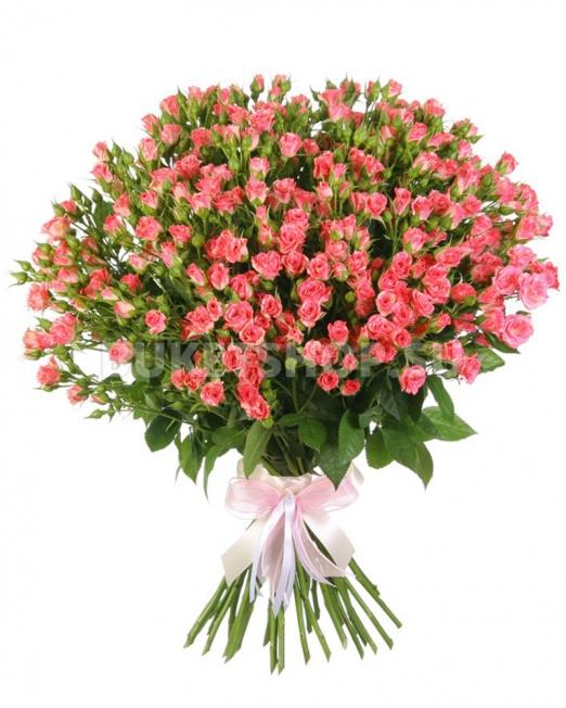 Букет от спрей и рози