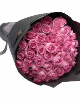 Букет от 25 розови рози