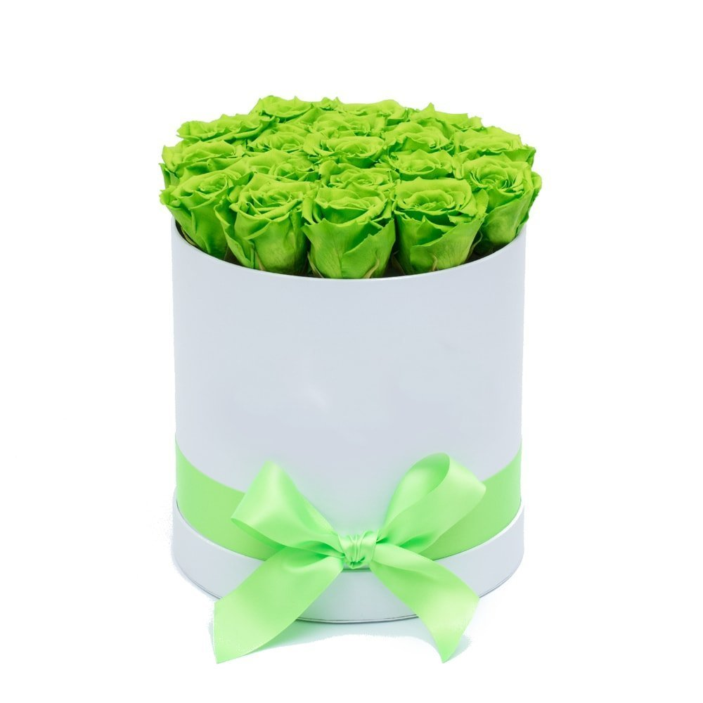 10 броя вечни зелени рози