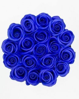 Кутия сини рози
